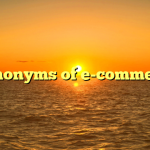 Synonyms of e-commerce